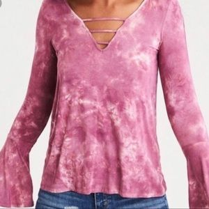 American Eagle Soft And Sexy Pink Tie Dyed Shirt